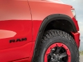 Black Mopar off-road wheel flares accentuate the 35-inch tires and provide additional defense against trail hazards.