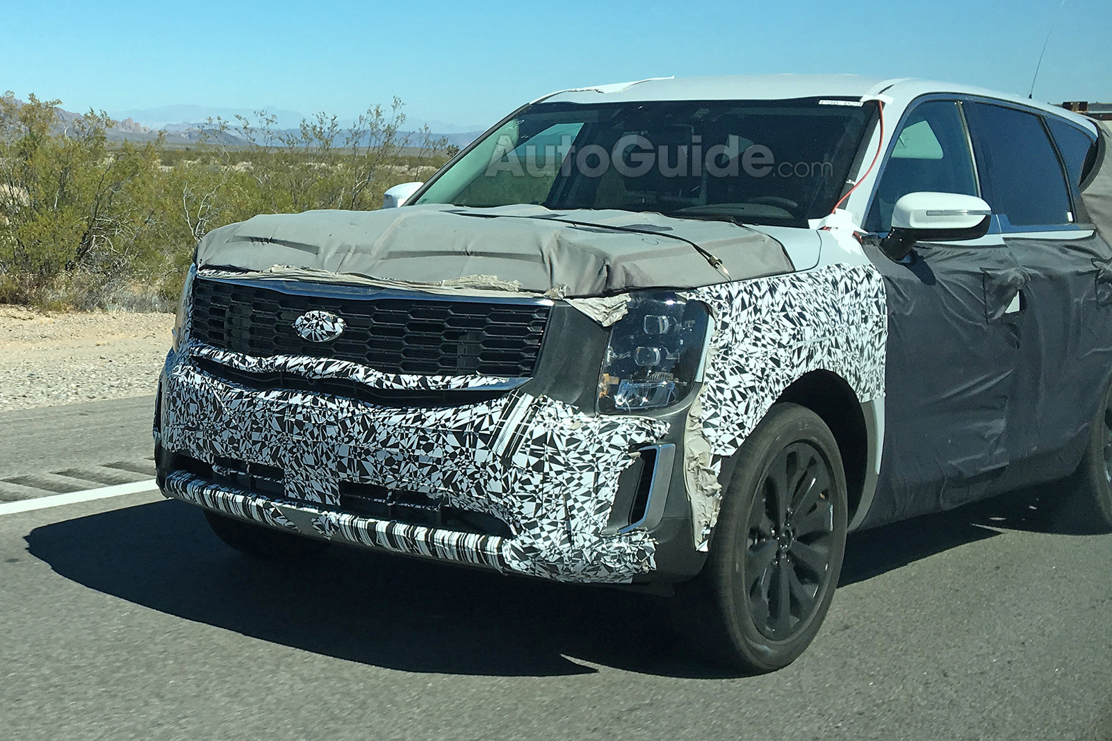 2020 Kia Telluride Shows Off Production Grille In Spy Photos
