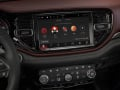 2021 Dodge Durango Citadel Interior (Ebony Red): The Challenger-inspired driver-oriented cockpit is refined, upscale and high-tech throughout, featuring an available, largest-in-class 10.1-inch touchscreen angled 7 degrees toward the driver.