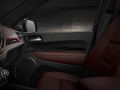 2021 Dodge Durango Citadel Interior (Ebony Red): Heated and ventilated Nappa leather front and passenger seats with embossed 'Dodge stripes' // and heated second-row captain's chairs.