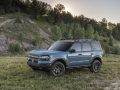 The all-new Bronco Sport Badlands series in Area 51. (Pre-production model pictured.)