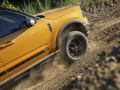 The all-new Bronco Sport offers available 29-inch all-terrain tires for better off-road performance. (Pre-production model pictured.)