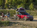 The all-new Bronco Sport offers an available overlanding-ready roof rack with capacity to make roof-top tent camping easy. (Pre-production model pictured.)