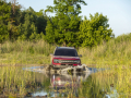 The all-new Bronco Sport Badlands series can wade through up to 23.6 inches of water. (Pre-production model pictured.)