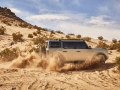 Pre-production 2021 four-door Bronco Badlands in Cactus Gray with available Sasquatch™ off-road package.