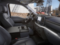 The cabin is completely redesigned with more comfort, technology and functionality for truck customers along with more premium materials, more color choices and more storage. Shown here is the interior of the all-new F-150 XL.