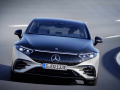 Mercedes-EQ, EQS 580 4MATIC, Exterieur, Farbe: hightechsilber/obsidianschwarz, AMG-Line, Edition 1;( Stromverbrauch kombiniert: 20,0-16,9 kWh/100 km; CO2-Emissionen kombiniert: 0 g/km) // Mercedes-EQ, EQS 580 4MATIC, Exterior, colour: high-tech silver/obsidian black, AMG-Line, Edition 1; (combined electrical consumption: 20.0-16.9 kWh/100 km; combined CO2 emissions: 0 g/km)