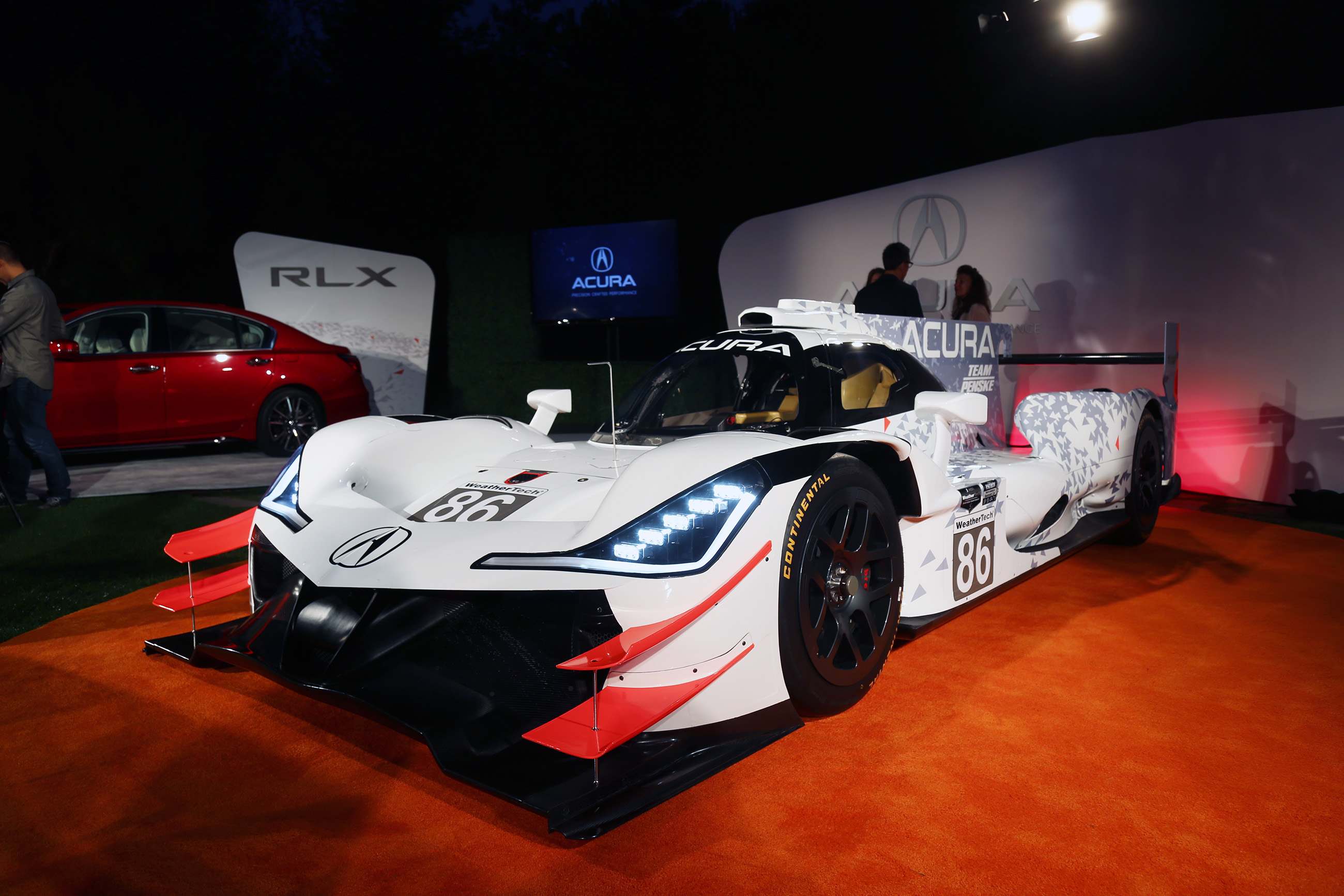 Acura ARX-05 prototype race vehicle bows at The Quail