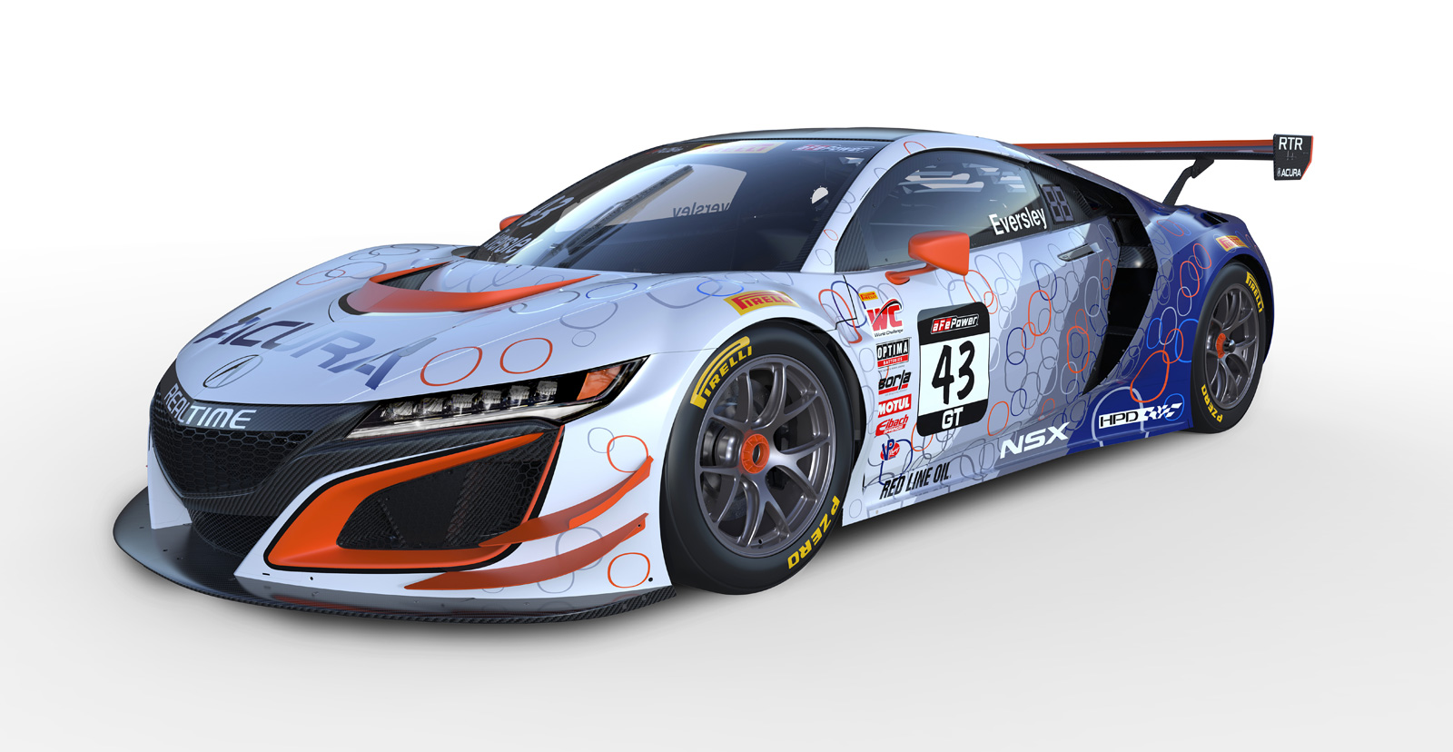 here's how the acura nsx gt3 race cars will look this season