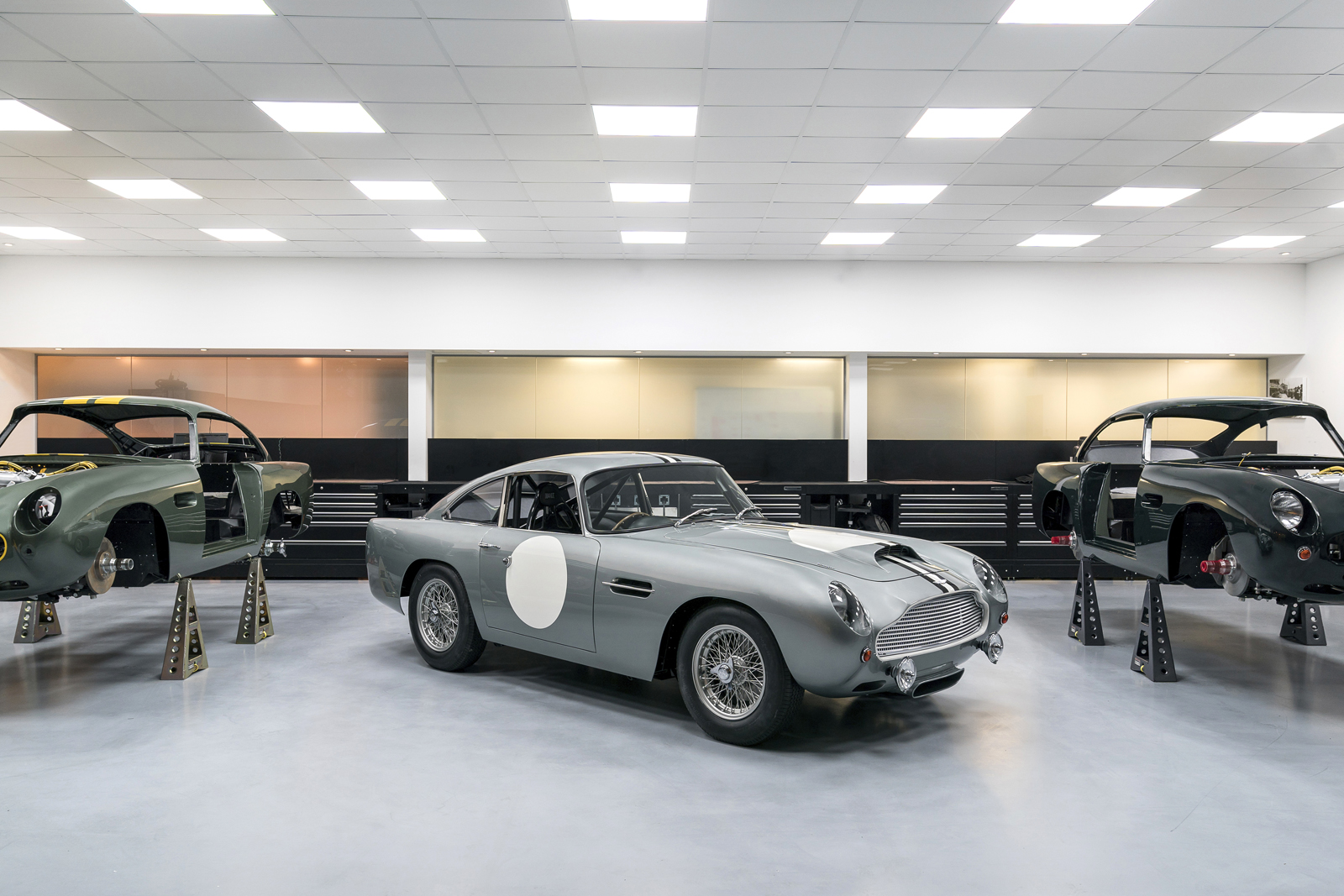 aston martin sets to work building its gorgeous db4 g.t.