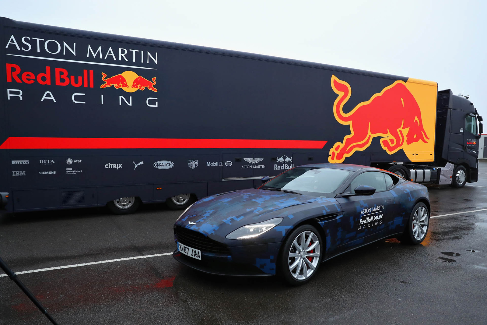 Aston Martin Db11 Looks Even Better In Red Bull Test Scheme Autoguide Com News