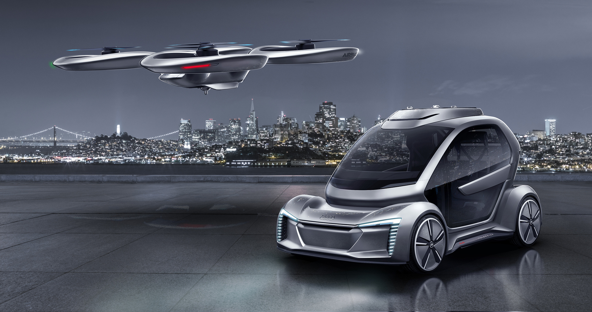 audi unveils the latest version of its flying car concept