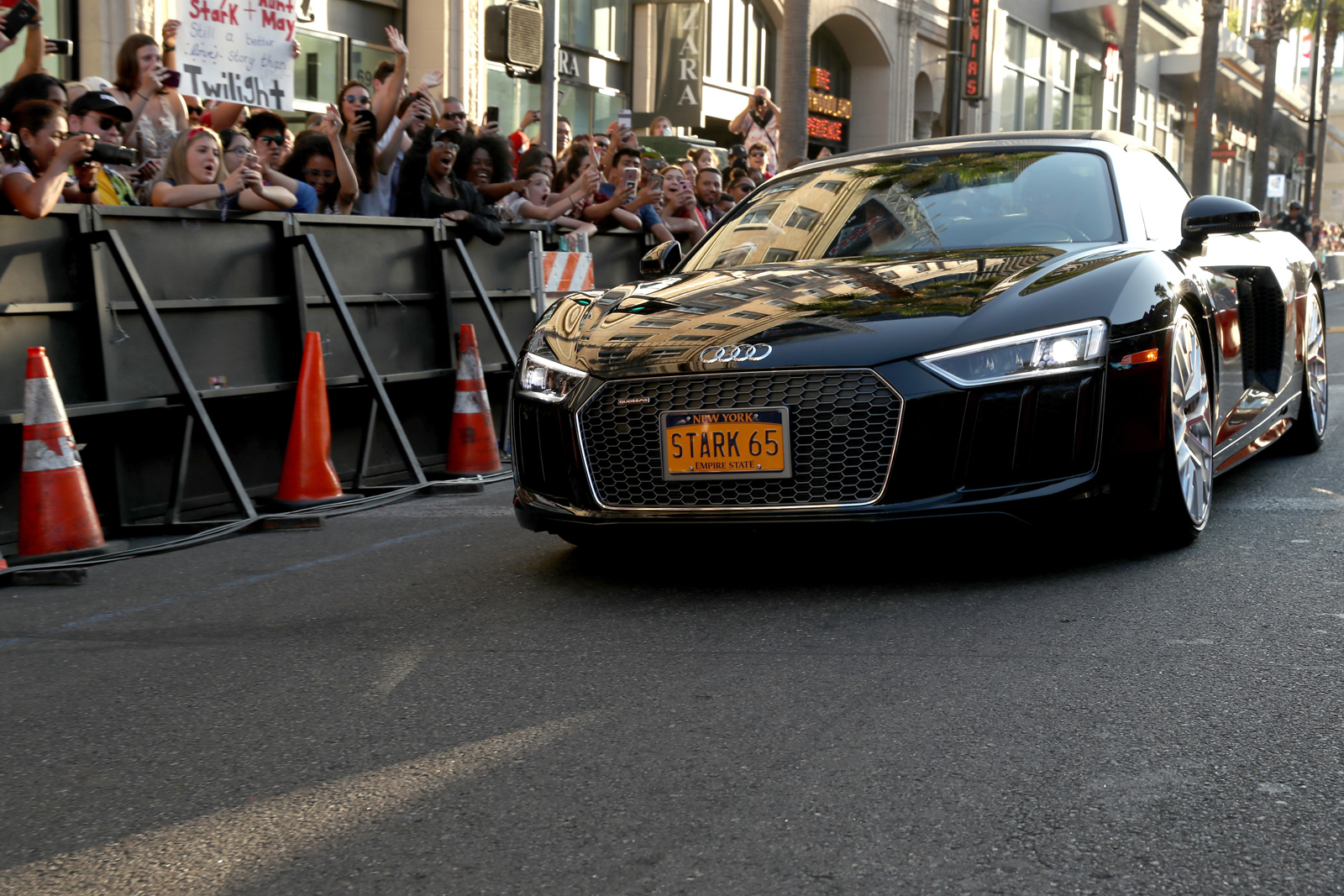 audi at the world premiere of spider man homecoming