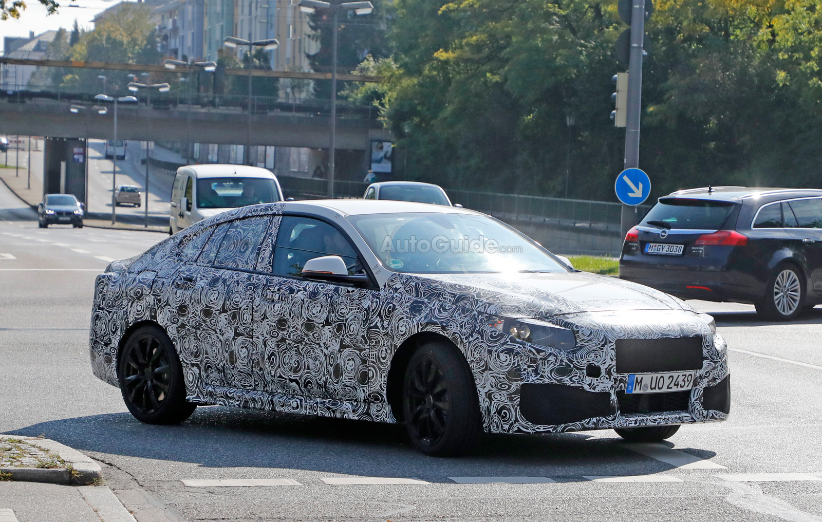 bmw 2 series gran coupe spied for the first time news. Black Bedroom Furniture Sets. Home Design Ideas