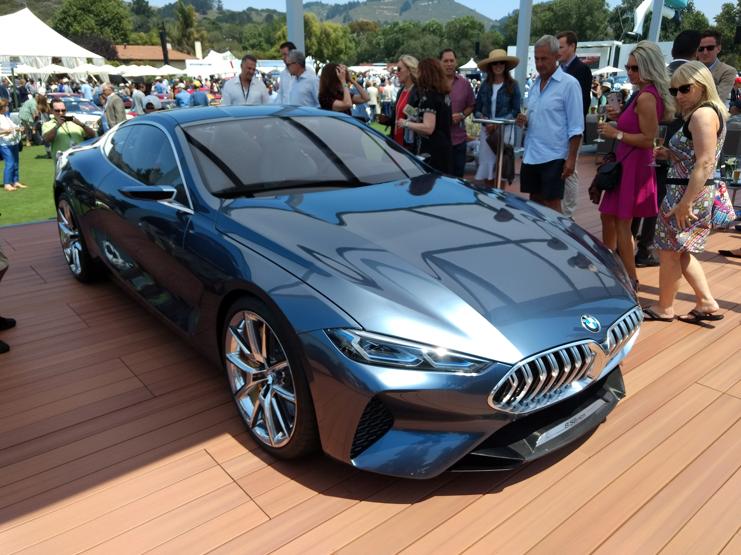 Hanging Out With The Bmw 8 Series Concept In Pebble Beach