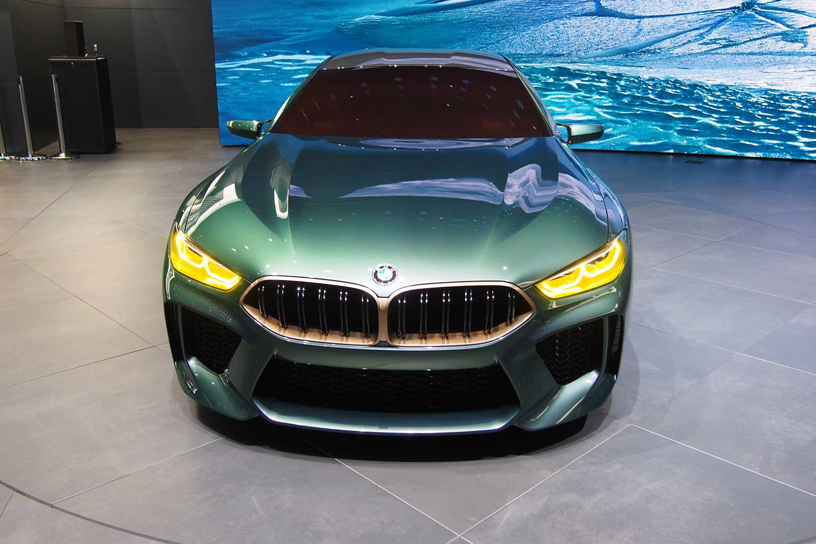 Bmw Concept M8 Gran Coupe A Low And Mean Greenish Gray Flagship