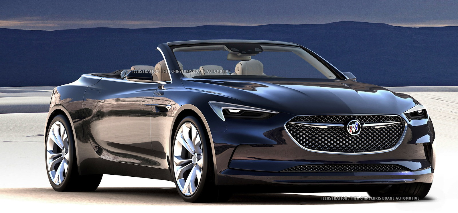 buick 39 s stunning new concept car looks even better as a convertible news. Black Bedroom Furniture Sets. Home Design Ideas