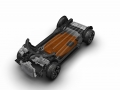 The heart of the Chrysler Portal Concept is its lithium-ion battery pack, mounted underneath the vehicle floor. The battery pack's energy is rated at about 100 kilowatt-hours (kWh). Fully charged, the battery pack gives the Portal an estimated driving range of more than 250 miles