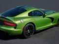 2017 Dodge Viper Snakeskin Edition GTC was inspired by the original 2010 Snakeskin ACR with its striking green exterior color. This special edition model features new Snakeskin Green exterior with a custom snakeskin patterned SRT stripe, Advanced Aerodynamics Package, GT black interior, serialized instrument panel Snakeskin badge and a custom car cover that matches the exterior paint scheme and showcases the customer name above the driver's side door. As many as 25 units of this new special edition configuration will be produced for the 2017 model year.