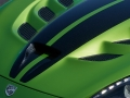 The 2017 Dodge Viper Snakeskin Edition GTC features a new Snakeskin Green exterior with a custom snakeskin patterned SRT stripe.