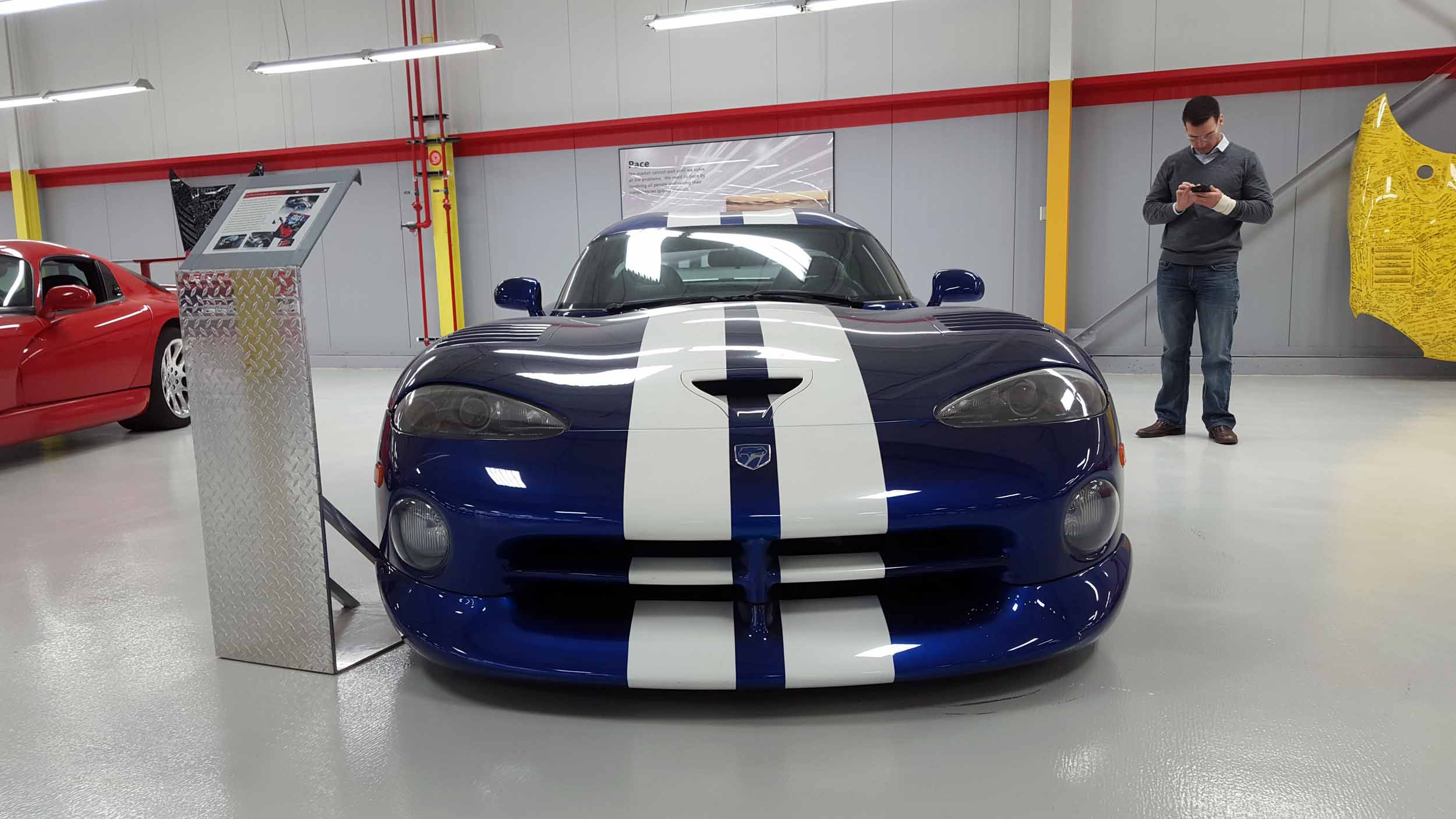 an homage to the dodge viper taking my car back to its birthplace