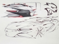 The fourth-place winning sketch for the FCA US Drive for Design competition, designed by Andrew Gombac of Loyola Academy in Wilmette, Illinois.