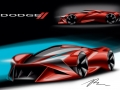 2017 Drive for Design contest winner: The second-place winning sketch for the FCA US Drive for Design competition, designed by Richard Chen, Delmar High School (Delmar, Delaware)
