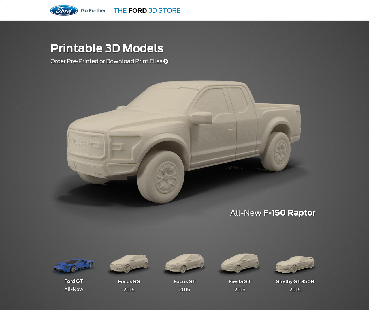 Ford opens online 3d print shop