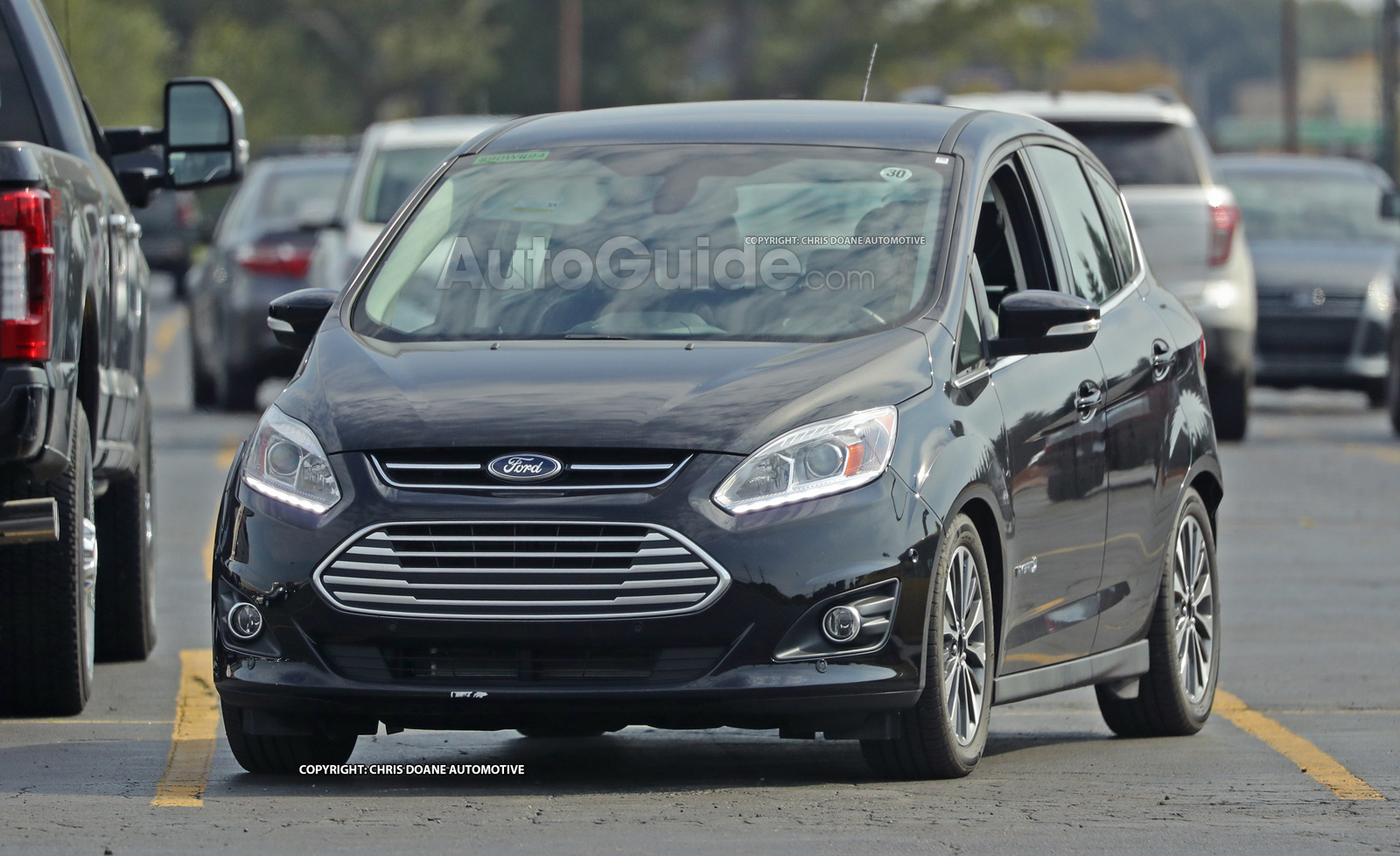 2017 ford c max spied sporting a pretty useless facelift news. Black Bedroom Furniture Sets. Home Design Ideas