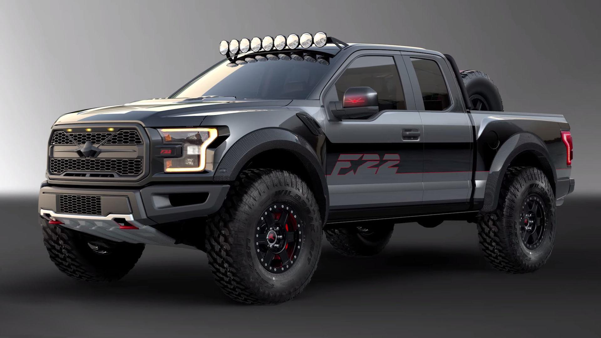 custom ford f 150 39 f22 39 raptor heading to auction news. Black Bedroom Furniture Sets. Home Design Ideas