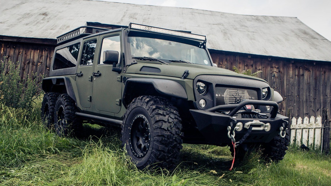 Crazy 6-Wheeled Jeep Wrangler Tomahawk a Made-in-China Beast ...