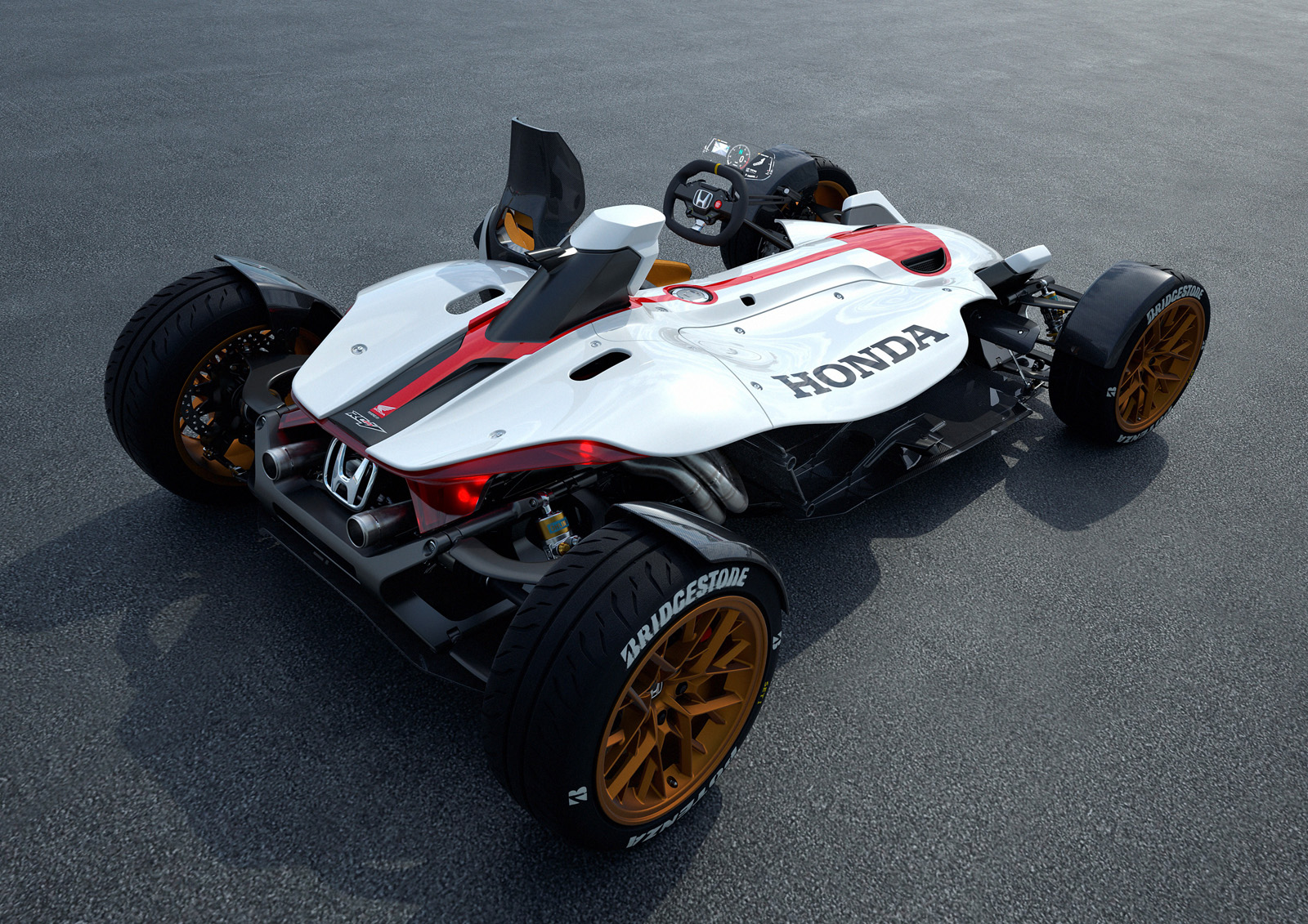 This Wild New Honda Uses A Motorcycle Engine And Revs To 13 000 Rpm