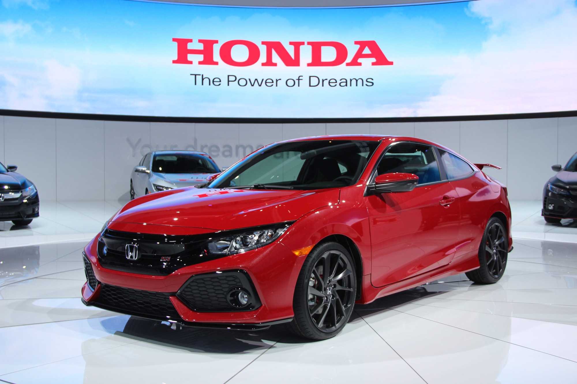 2017 honda civic si debuts at 2016 l a auto show news. Black Bedroom Furniture Sets. Home Design Ideas