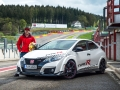 Honda Civic Type R sets new benchmark time at Spa-Francorchamps with Honda WTCC's driver Rob Huff