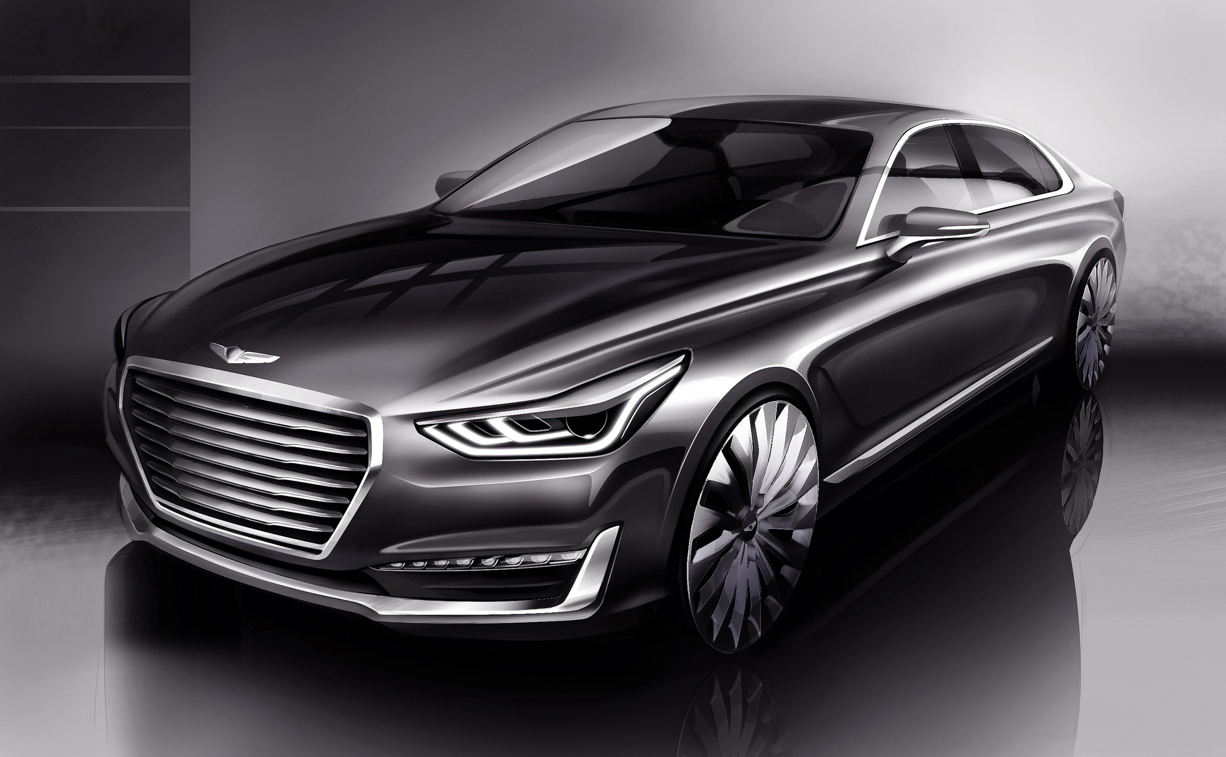 the genesis g90 is the next hyundai equus. Black Bedroom Furniture Sets. Home Design Ideas
