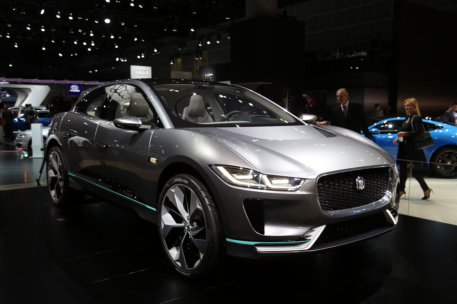jaguar i pace debuts as an all electric crossover concept that actually looks cool autoguide. Black Bedroom Furniture Sets. Home Design Ideas
