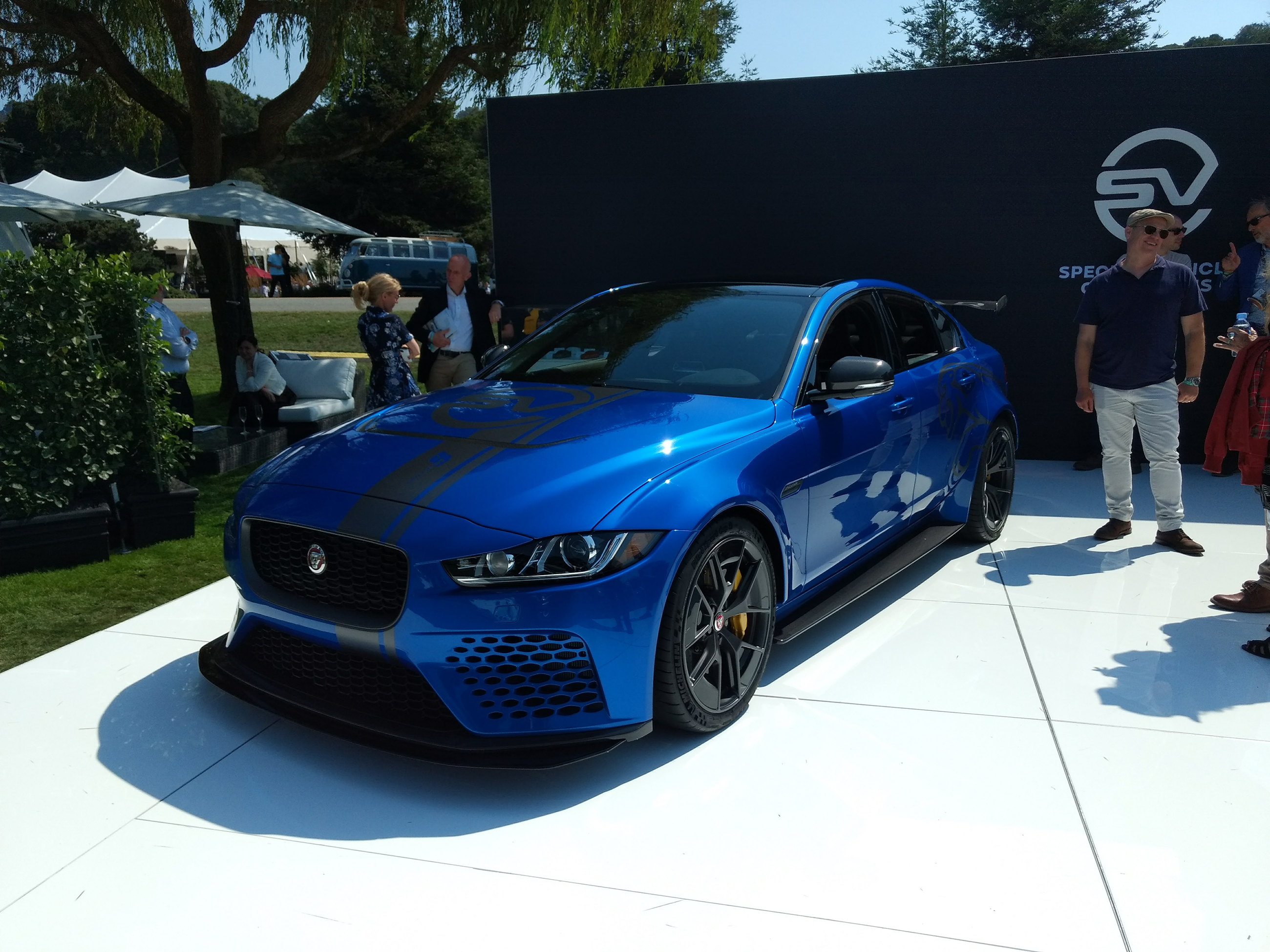 limited run jaguar xe sv project 8 fits right in at pebble beach news. Black Bedroom Furniture Sets. Home Design Ideas