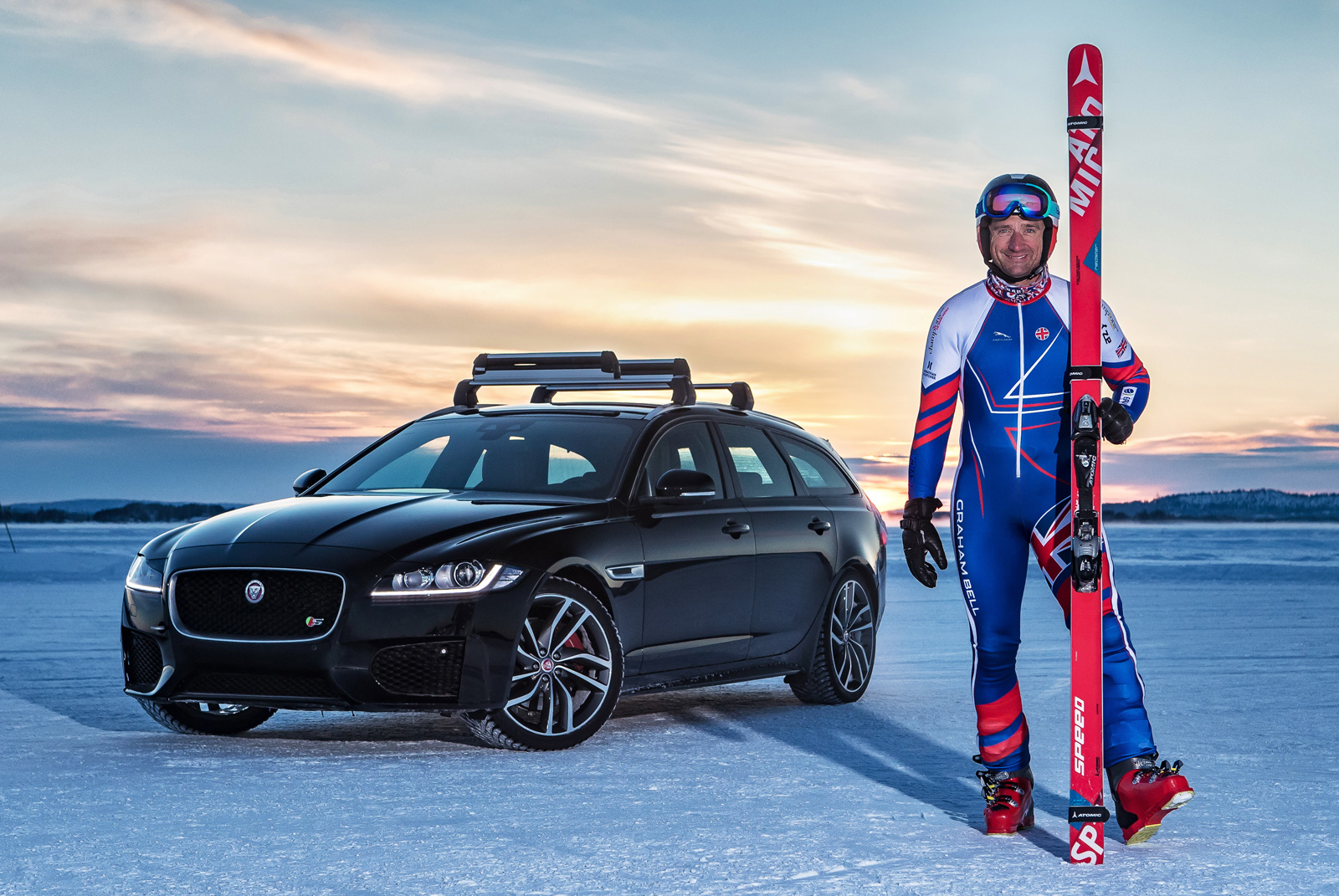 Olympic skier and Jaguar hit 117 miles per hour to smash towing world record