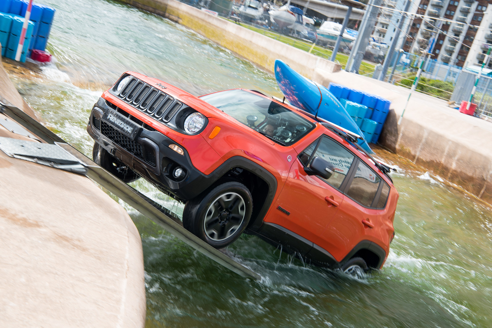 Watch A Jeep Renegade Conquer An Olympic White Water
