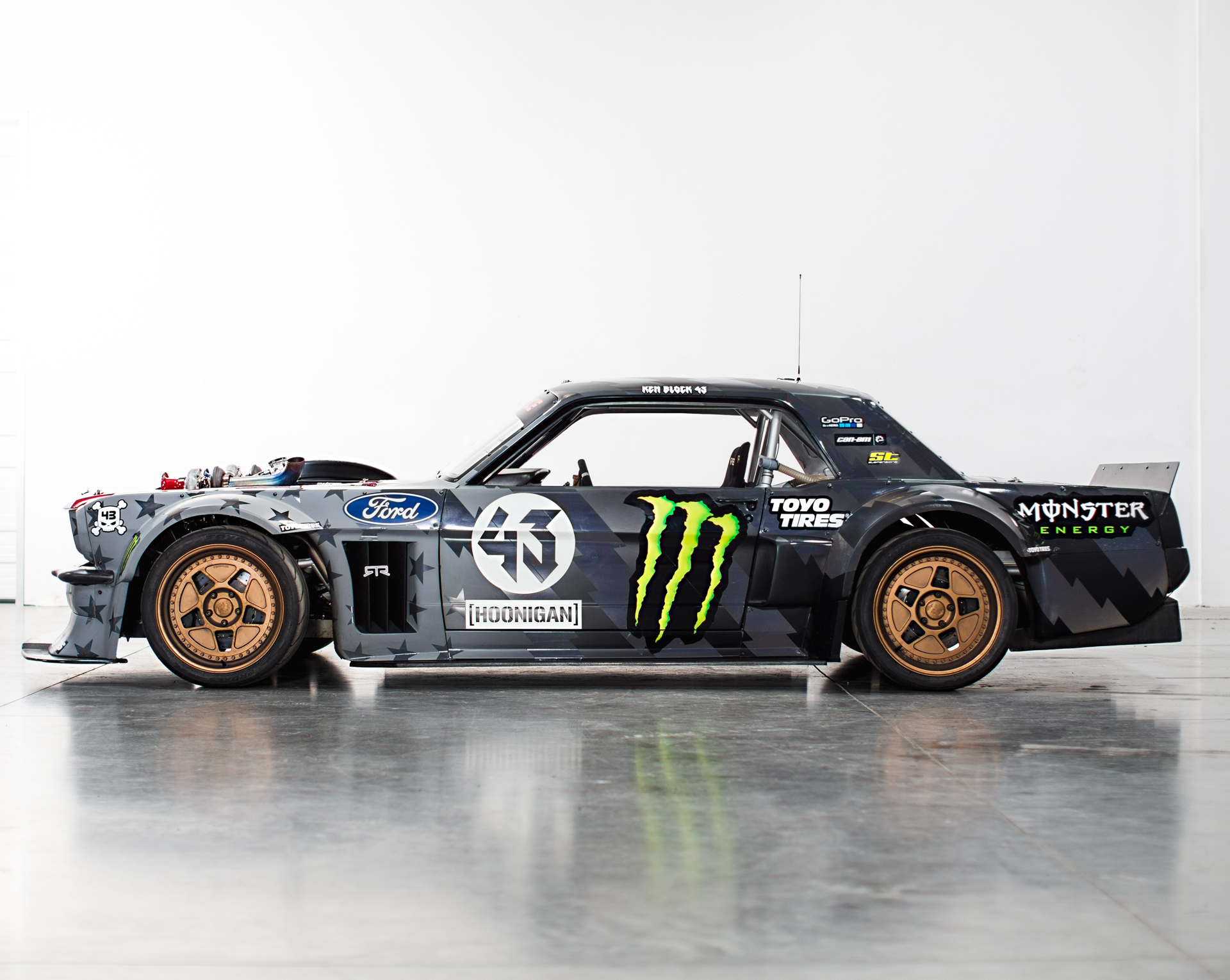 Ken Block S Bonkers 1965 Ford Mustang Now Has 1 400 Hp Autoguide