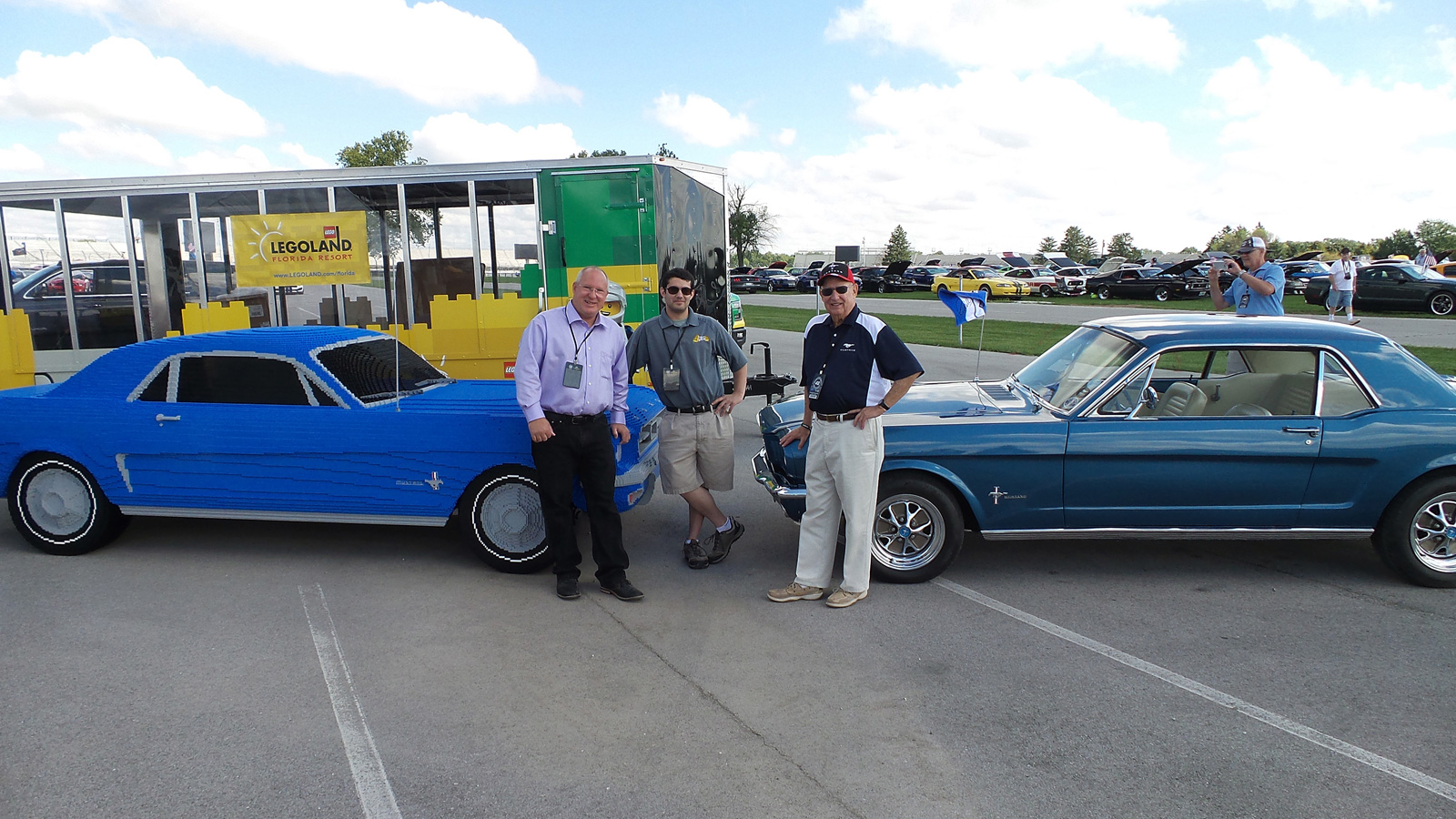 1964.5 ford mustang gets a life-size lego replica » autoguide news