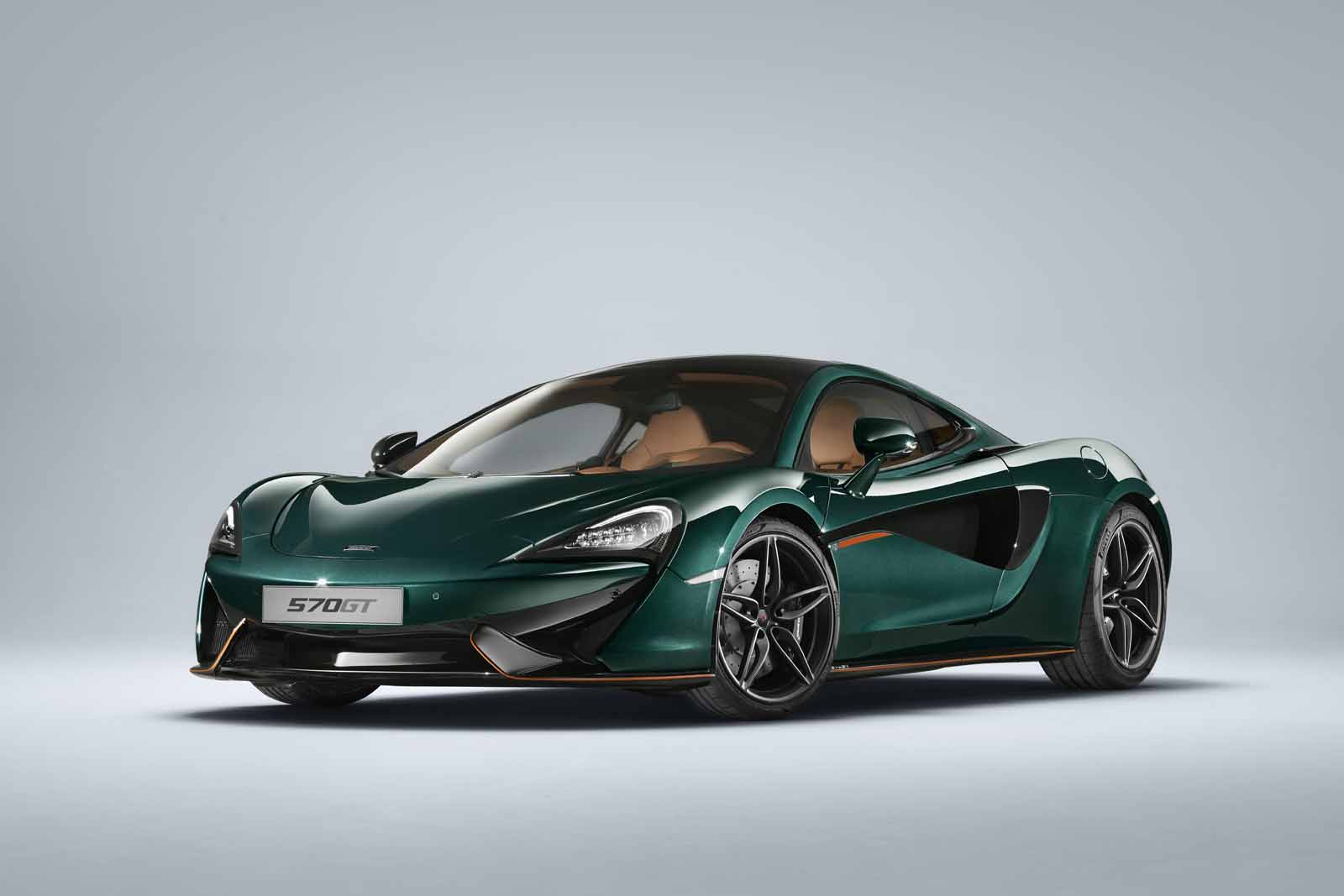 Green machines: McLaren's six 570GT MSO Collection cars in retro XP paint