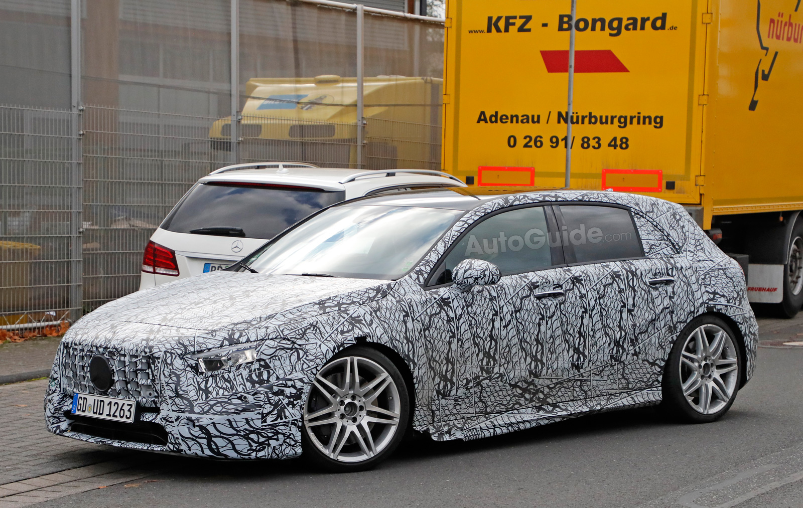 2019 Mercedes Amg A45 Spied Looking Like A Proper Hot Hatch