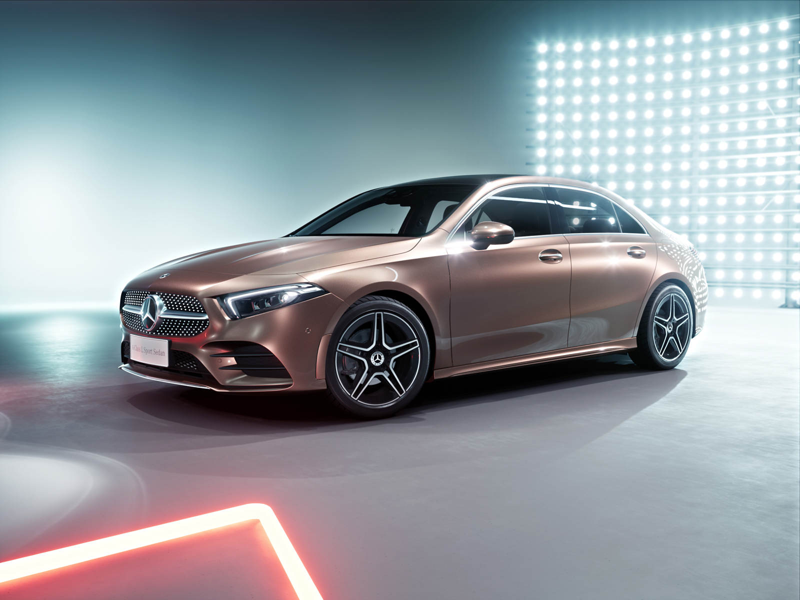 mercedes-benz a class l is a small stretch sedan for china only