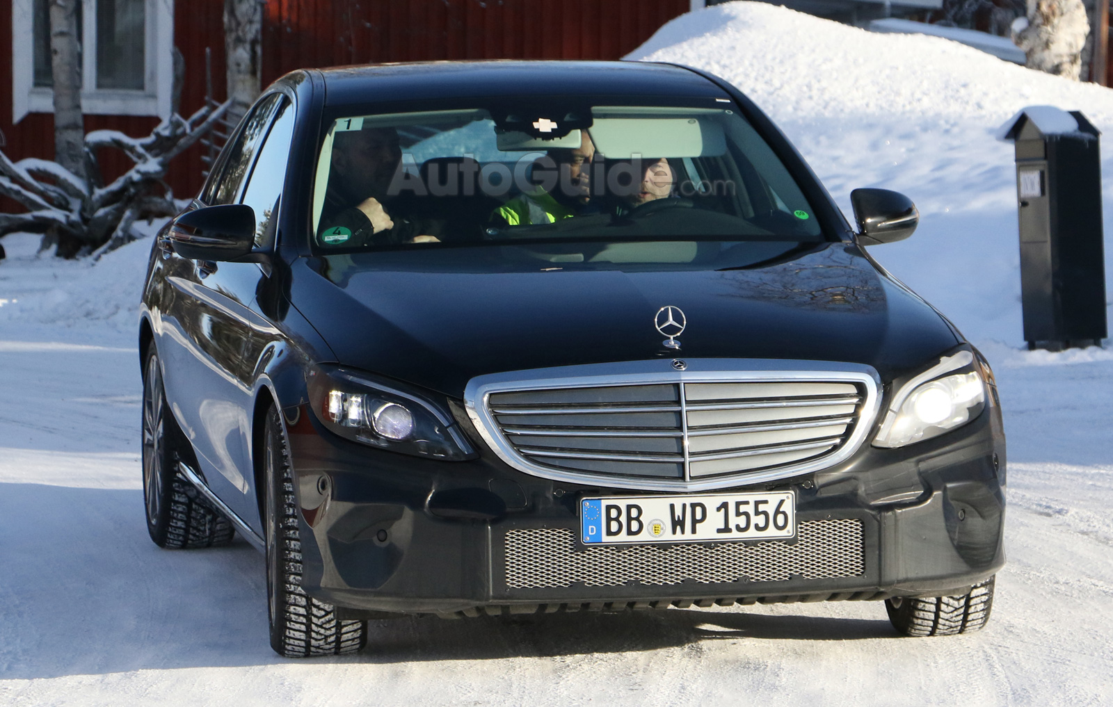 Facelifted 2019 mercedes benz c class spied looking like a for Looking for mercedes benz parts