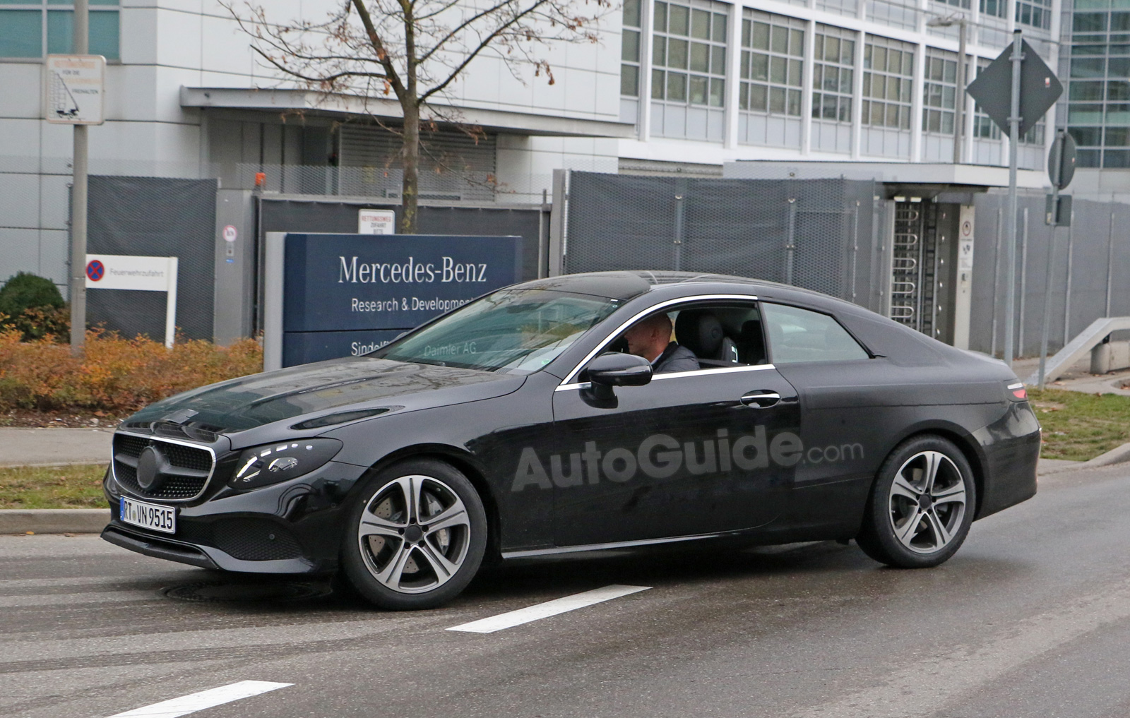 2018 mercedes e-class coupe caught mostly undisguised » autoguide