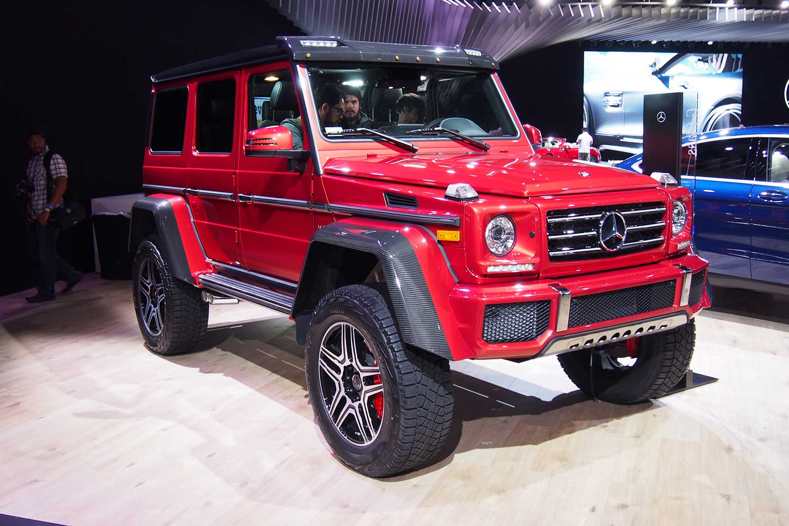 Mercedes g550 4x4 is a badass off roader that doesn 39 t come for Mercedes benz g550 4x4 squared