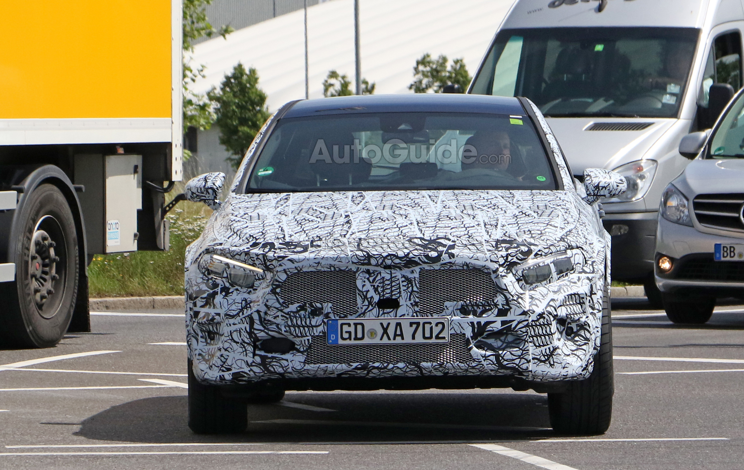 Next mercedes gla spied looking more production ready for Looking for a mercedes benz