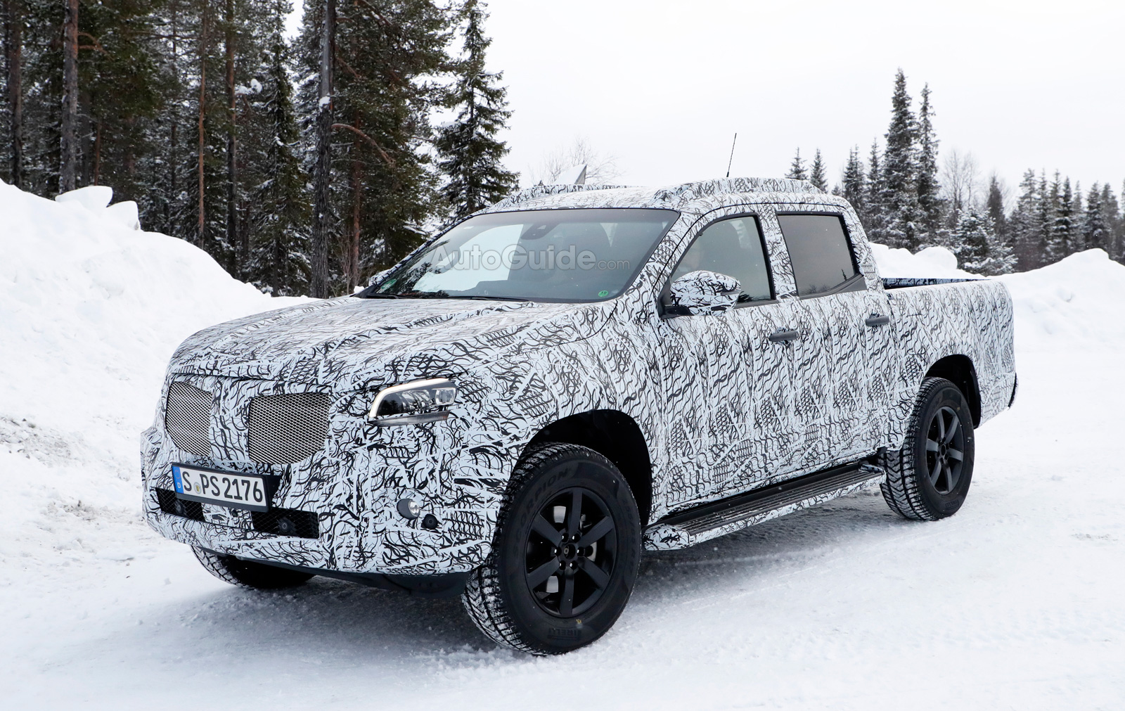 Mercedes Pickup Truck Sheds Some Camo for Spy ...