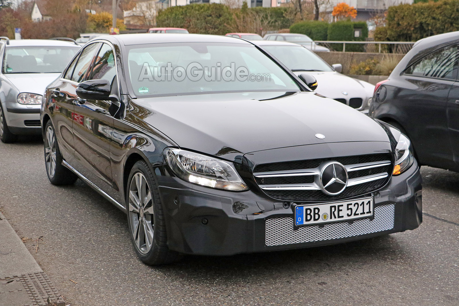 facelifted 2019 mercedes c-class spotted » autoguide news